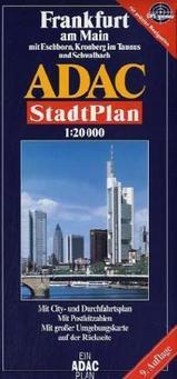 Plattegrond  - Stadsplattegrond Frankfurt am Main   ADAC