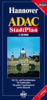 Plattegrond  - Stadsplattegrond Hannover   ADAC