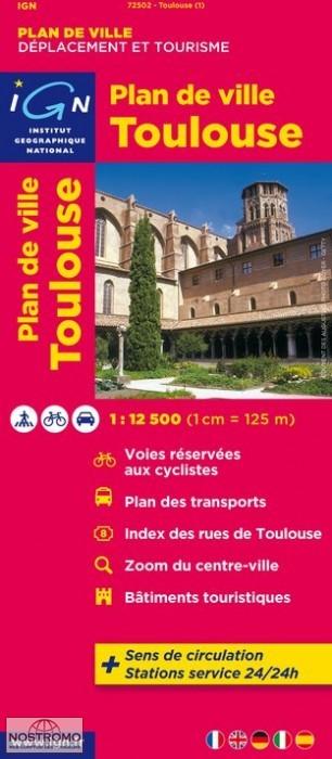 Stadsplattegrond - plattegrond Toulouse   IGN