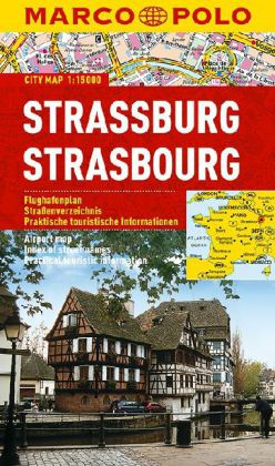 Stadsplattegrond - plattegrond Strassbourg - Straatsburg   Marco Polo
