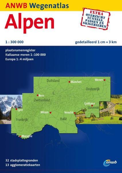 Wegenatlas Alpen  en Noord Itali�   ANWB