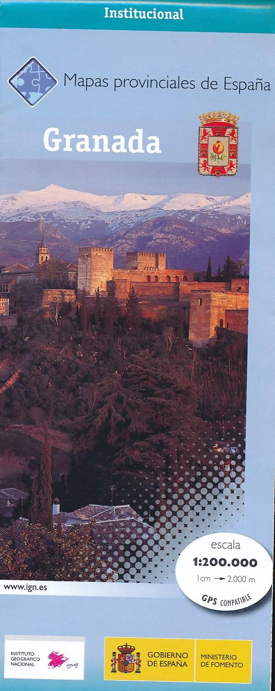 Wegenkaart - landkaart Granada Provinciekaart   IGN Spanje