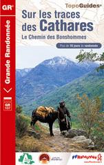 Wandelgids Pyreneeën Sur les traces des Cathares - Katharen GR10   FFRP ref 1097