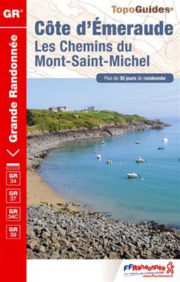 Wandelgids ref 345 Cote d'Emeraude, Les Chemins du Mont-Saint-Michel GR34, GR37 en GR39   FFRP