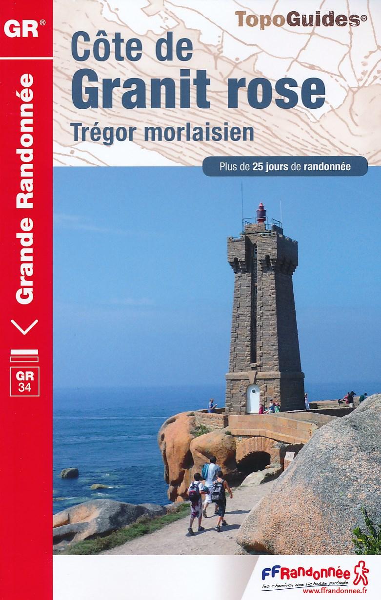 Wandelgids Bretagne Cote de Granit Rose   FFRP ref 346