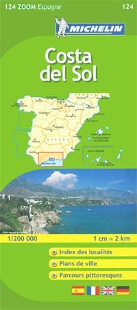 Wegenkaart  - landkaart 124 Costa del Sol Zoom   Michelin