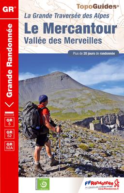 Wandelgids Traversée du Mercantour - GR 5 -52 -52A   FFRP ref 507