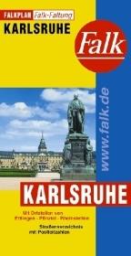Stadsplattegrond - landkaart Karlsruhe   Falk