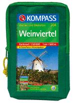 Wandelkaart - kaartenset 204 Weinviertel   Kompass