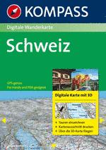 Digitale Wandelkaart K4312 Schweiz 3D digital DVD ( Zwitserland )   Kompass