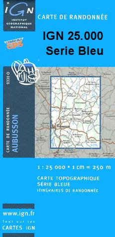 Wandelkaart 2133 O - 2133O Uzerche topografische kaart   IGN Institut Geographique National