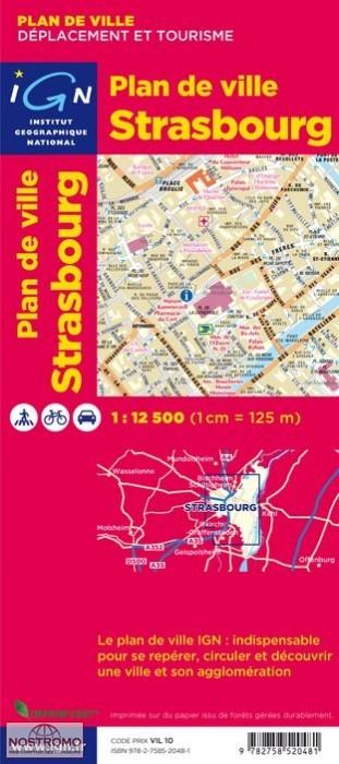 Stadsplattegrond Straatsburg - Strasbourg   IGN