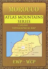 Wandelkaart - landkaart HP Zagora and Middle Draa Valley  (Marokko)   EWP