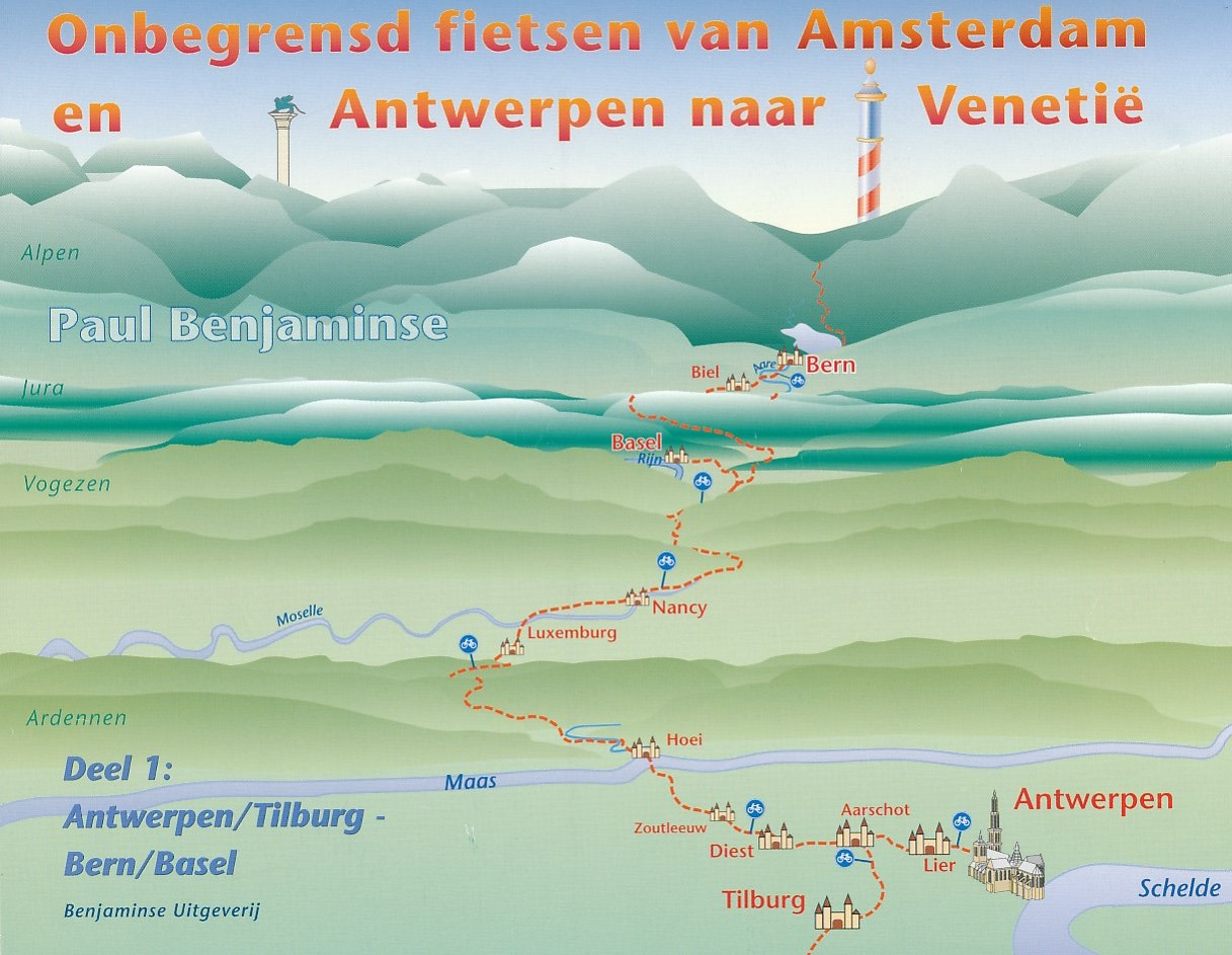 Fietsen van Amsterdam naar Venetië Deel 1: Amsterdam-Bern   Benjaminse