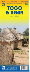 Wegenkaart - Landkaart Togo en Benin   ITMB