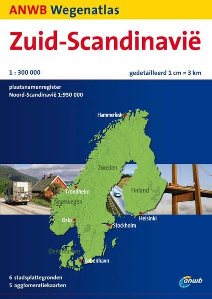 Wegenatlas Zuid-Scandinavië   ANWB