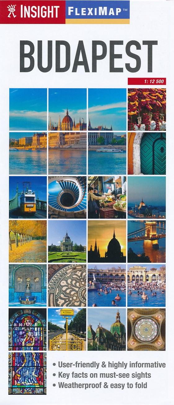 Stadsplattegrond - landkaart FlexiMap Budapest - Boedapest   Insight Guides
