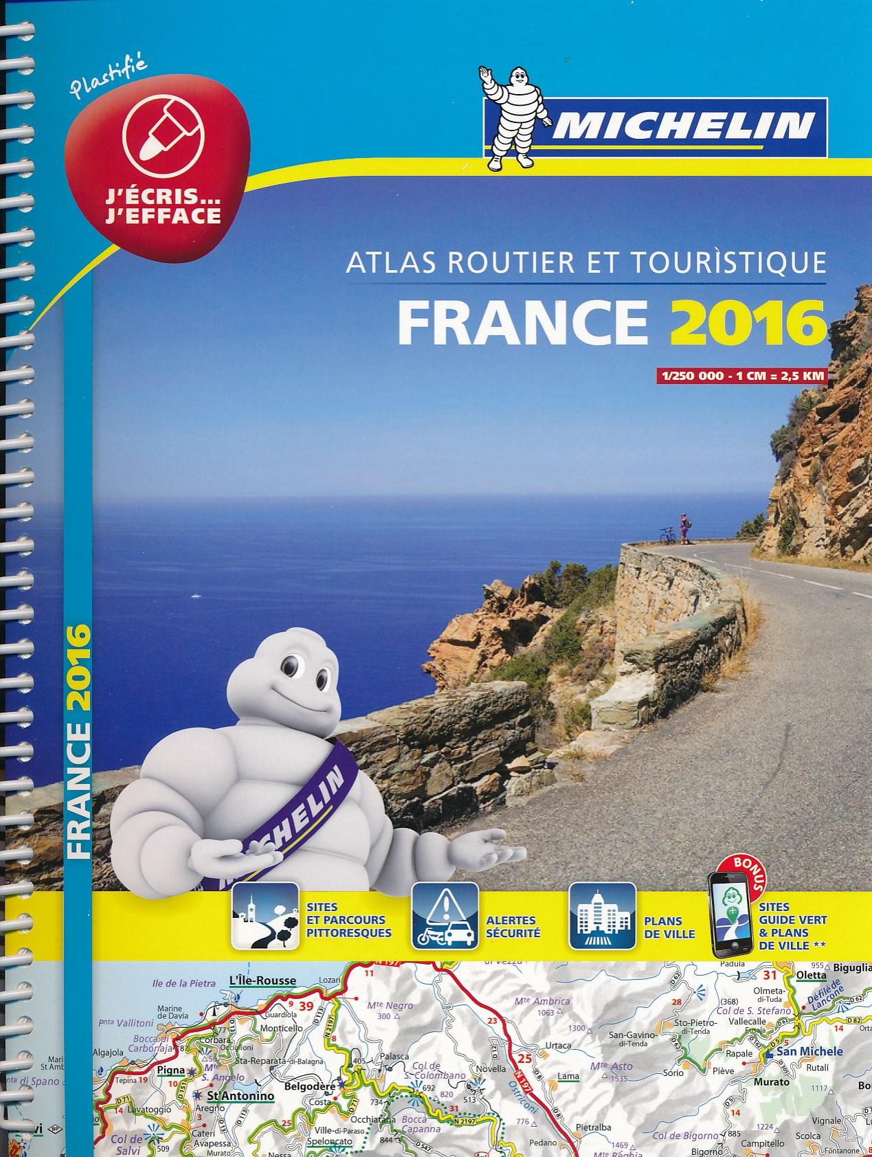 Wegenatlas Frankrijk - Atlas Routier et Touristique France 2016   Michelin