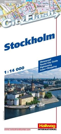Stadsplattegrond Stockholm Cityflash   Hallwag
