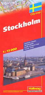 Stadsplattegrond - kaart Stockholm   Hallwag