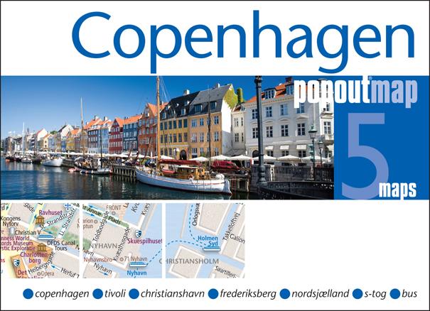 Plattegrond Kopenhagen Copenhagen PopOut Map   Compass Maps