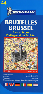 Stadsplattegrond -  plattegrond Bruxelles - Brussel no. 44    Michelin